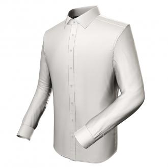 Modisches Businesshemd (weiß, Batist)